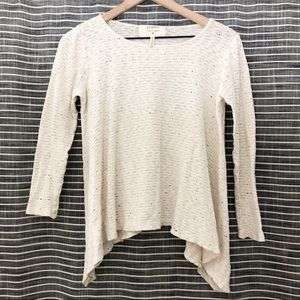 Puella | Anthropologie | Cream Speckled Sweater